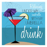 Beach Umbrella Posters by Jace Grey