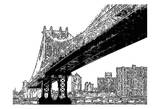 Skyline Sketch Prints by Taylor Greene
