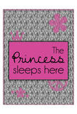 Princess Sleeps Poster by Lauren Gibbons