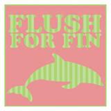 Flushfor Fin Print by Lauren Gibbons