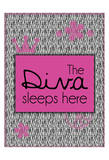 Diva Sleeps Posters by Lauren Gibbons
