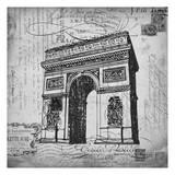 Eco Vintage Paris 2 Print by Carole Stevens