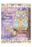 Pastel Owl Family 4 Go Confidently Posters by Erin Butson