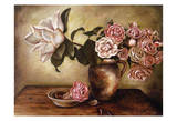 Magnolia with Roses I Prints by Nora St. Jean