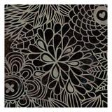 Stencil Floral III Art by Kristin Emery