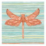 Summer Stripe dragonfly 2 Art by Nicole Tamarin
