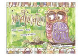 Pastel Owl Family 3 Imagination Will Take You Everywhere Posters by Erin Butson