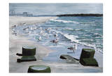 Bradley Beach Sea Gulls Posters by Donna Sinisgalli