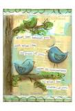 Birds Blue 2 Print by Erin Butson