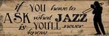 Jazz Is Poster af Taylor Greene