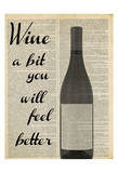 Wine A Bit Print by Taylor Greene