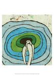 Aqua Batik Botanical I Posters by Andrea Davis