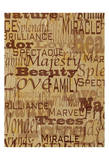 Words Nature Sepia Poster by Donna Sinisgalli