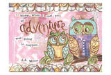 Pastel Owl Family 6 I Knew When I Met You An Adventure Poster by Erin Butson
