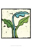 Teal Batik Botanical IV Prints by Andrea Davis