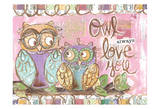 Pastel Owl Family 5 Owl Always Love You Posters by Erin Butson