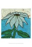 Aqua Batik Botanical VI Prints by Andrea Davis