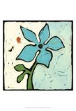 Teal Batik Botanical VI Art by Andrea Davis