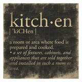 Kitchen Definition Print by Jace Grey