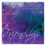 Watercolor Friendship Posters by Jace Grey