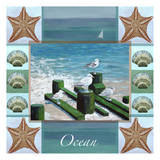 Ocean composite 1 Brown Starfish Posters by Donna Sinisgalli