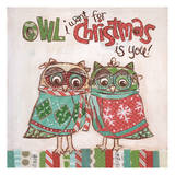 Chritmas Owls 1 Prints by Erin Butson