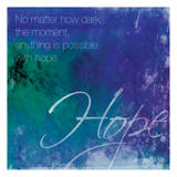 Watercolor Hope Quoted Posters by Jace Grey