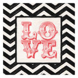 Chevron Love Red Posters by Taylor Greene