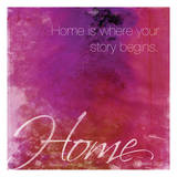 Watercolor Home Quoted Posters av Jace Grey