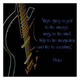 Neon Square Music Quote Print by Suzanne Foschino