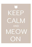 Keep Calm Cat Prints by Kristin Emery