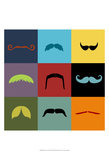 Moustache Grid Posters by  Vision Studio