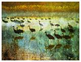 Cranes in Mist I Giclée-Druck von Chris Vest
