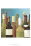 Wine Bottles I Poster by Megan Meagher