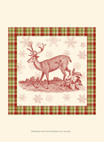 Reindeer Toile II Prints by  Vision Studio
