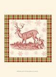Reindeer Toile II Print by  Vision Studio