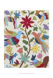 Otomi Embroidery I Affiche par Chariklia Zarris