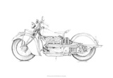 Motorcycle Sketch II Giclee Print by Megan Meagher