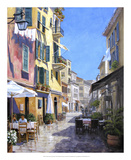 Sunny Street in Portofino Giclee Print by Michael Swanson