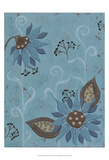 Whimsical Blue Floral I Prints by Jade Reynolds