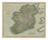 Vintage Map of Ireland Giclee Print by John Cary