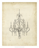 Classical Chandelier III Giclee Print by Ethan Harper