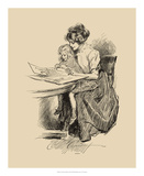 No Time For Politics Giclee Print by Charles Dana Gibson