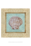 Shell & Damask I Posters by Rita Broughton