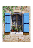 Blue Shutters Poster by Michael Swanson