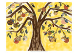 Yellow Orange Tree Prints by Sisa Jasper