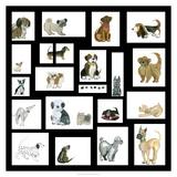 Doggie Grid Giclée-tryk af Lisa Choate
