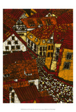 Red Roofs II Posters by Andrea Davis