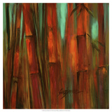 Sunset Bamboo II Giclee Print by Suzanne Wilkins