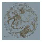 Northern Circumpolar Map Giclee Print by W.G. Evans